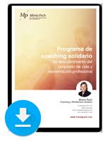 Descarga el dossier del Programa de Coaching de propósito de vida y orientación profesional