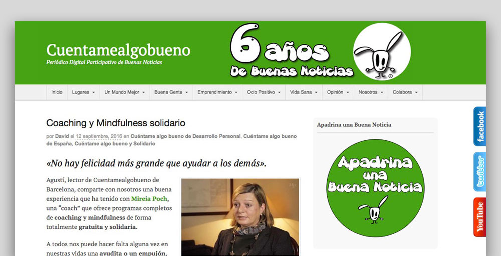 Entrevista Mireia cuentamealgobueno.com